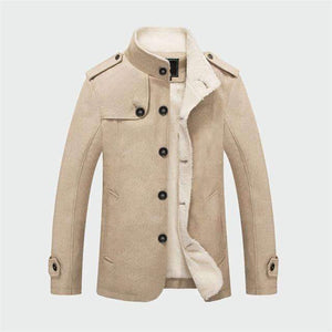 Musho Station:Thick Warm Woolen Coats Autumn Overcoat Fashion,,Musho Station,Musho Station