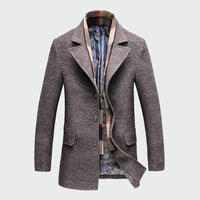 Musho Station:Thicken Slim Overcoat Jacket Casual Wool Trench Coat,,Musho Station,Musho Station