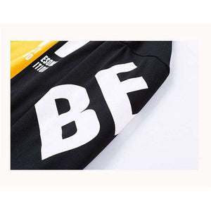 Musho Station:Two-color matching Sweatshirts High Quality letter printing fashion mens hoodie,