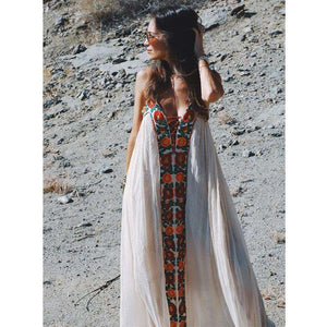 Musho Station:Vintage cotton floral embroidered white Summer spaghetti strap dress,,Musho Station,Musho Station