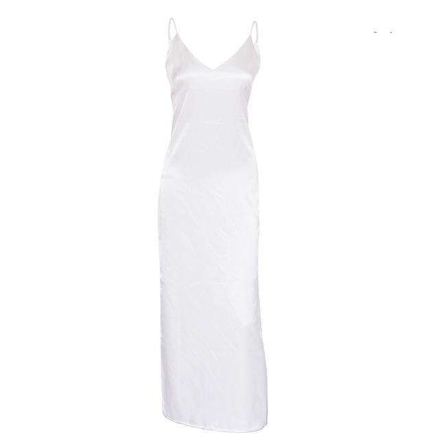 Musho Station:Woman summer slip silk satin elegant dress,,Musho Station,Musho Station