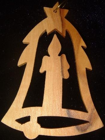 Hand Made Olive Wood  Ornament