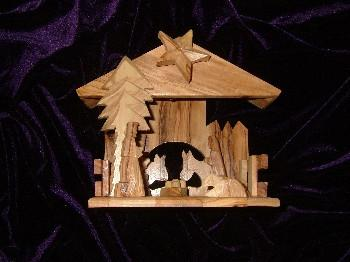 Musical Olive Wood Nativity