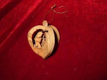 Hand Made Olive Wood Praying Mary Ornament (3 dimentional)