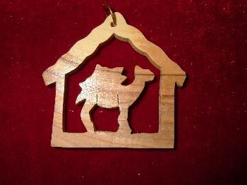 Hand Made Olive Wood Camel Ornament