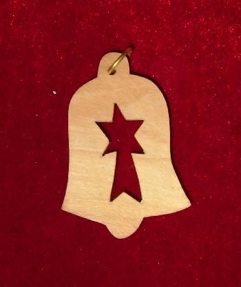 Hand Made Olive Wood Star of Bethlehem Ornament
