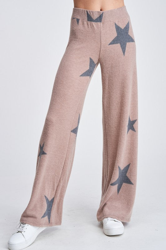 Sagittarius Star Lounge Pants- Cocoa