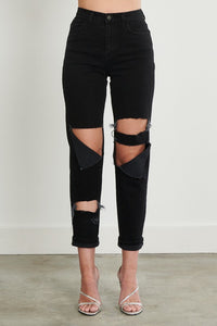 Crawford Boyfriend Vintage Black Denim