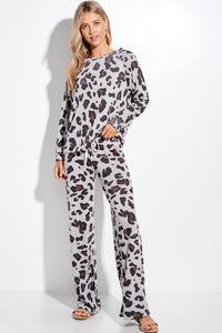 Eclipse Pocketed Knit Leopard Joggers