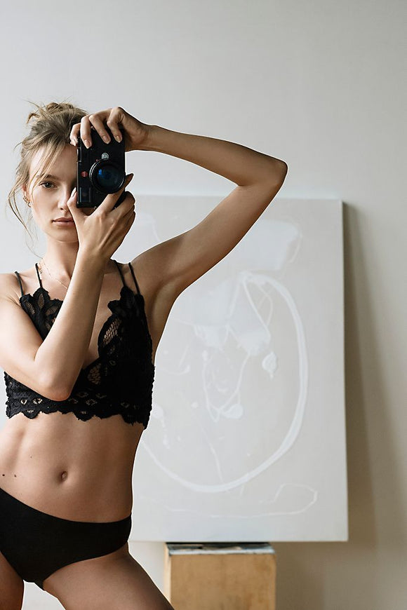 Adella Bralette in Black by Free People