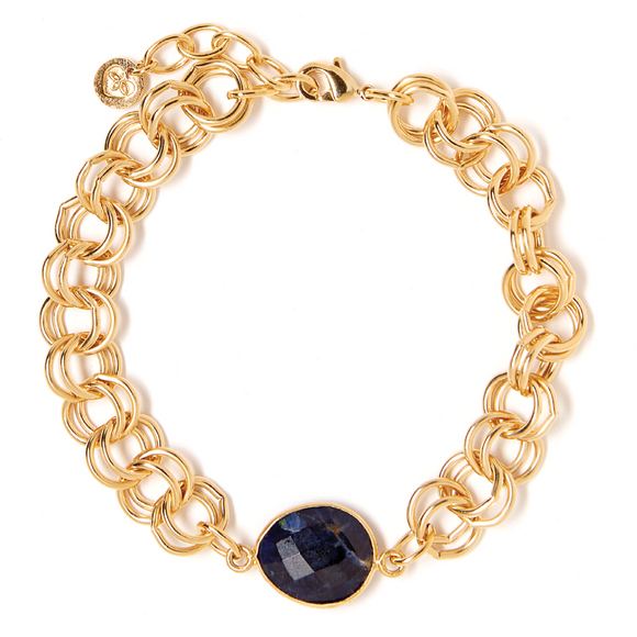 Gem Double Link Navy Chain