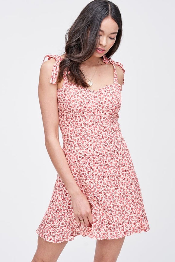 Pollen Floral Ruffle Tie Dress