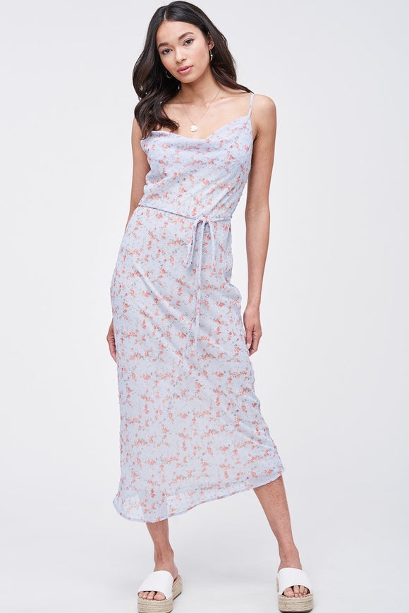 Lighthearted Floral Maxi Slip Dress