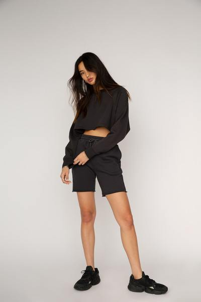 Nia Vintage Cropped Pullover: Ink
