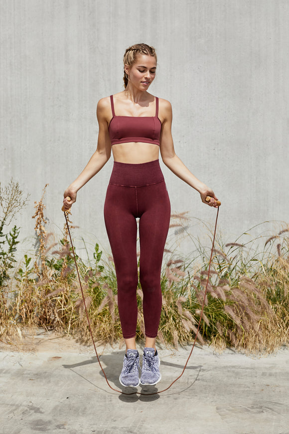 Good Karma Leggings by Free People in Redwood