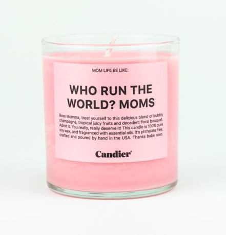 Moms Run The World Candle