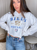 Buffalo Bills White V-Neck Long Sleeve Tie Dye Tee
