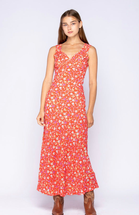 Villa D'Este Floral Maxi Dress