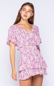 Dive Right In Floral Eyelet Dress