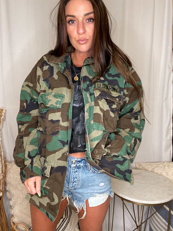 Vintage US Army Ranger Camo Jacket Long Light