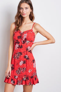 Girlfriend Floral Sweetheart Dress
