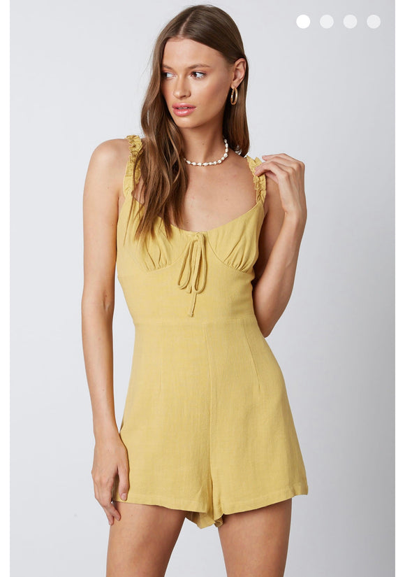 Flutter Heart Yellow Romper
