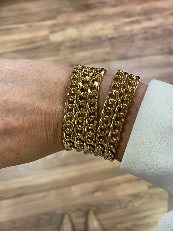 Here For It Stacked Gold Bracelet