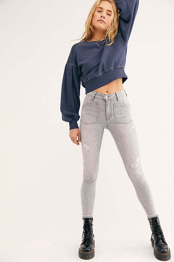 Ivy Midrise Skinny Jeans by Free People