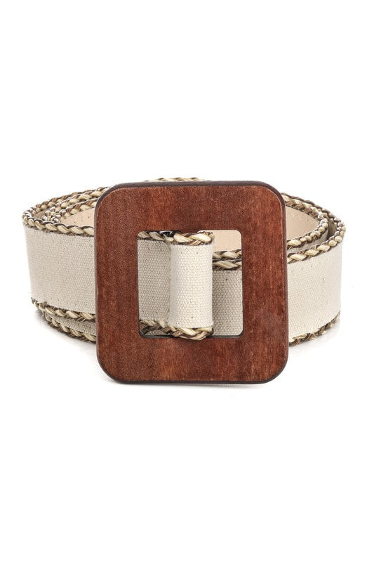 Equator Raffia Buckle Belt