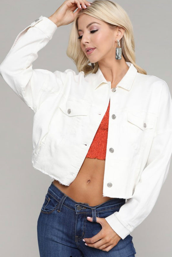 Clear Target Cropped Denim Jacket