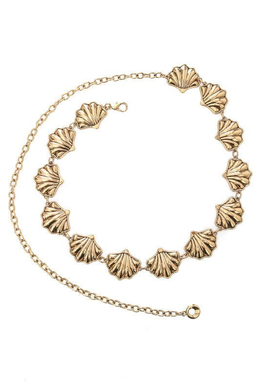 Golden Sea Shell Belt
