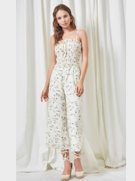 Trouble in Paradise Floral Jumpsuit