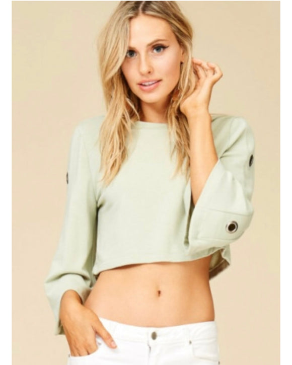 Tag Grommet Crop