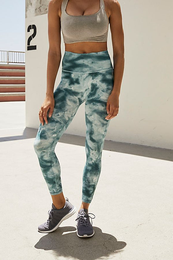 Good Karma Tie Dye Legging in Ozark Mist Combo by Free People