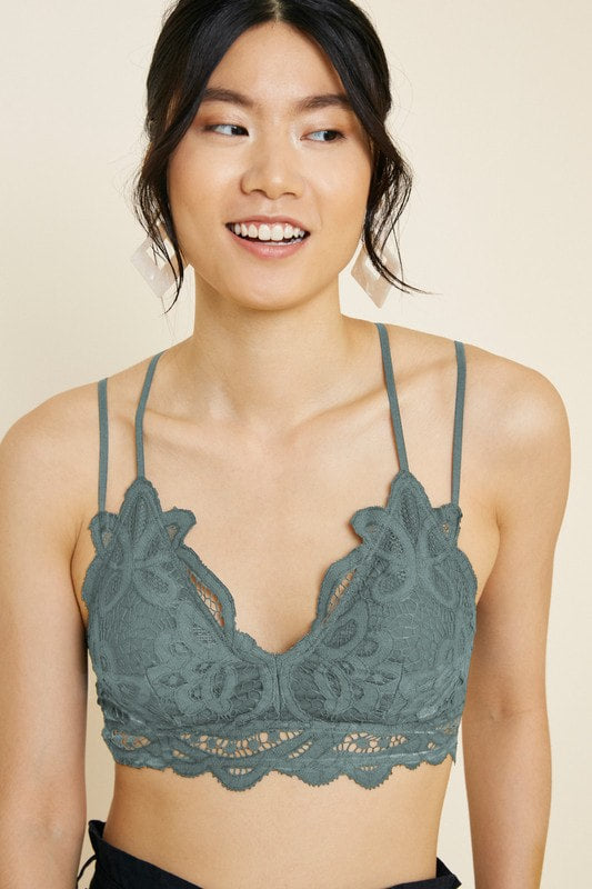 Soffy Lace Bralette in Blue Stone FINAL SALE