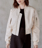 Dylan Faux Leather Bomber Jacket