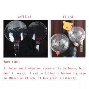 transparent latex balloon 10pc