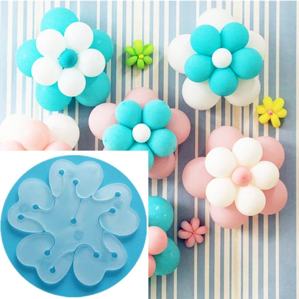 Plastic Balloon Clip Tie for Sealing, Make Flower design Balloon for Wedding Party Decor (pack of 6)