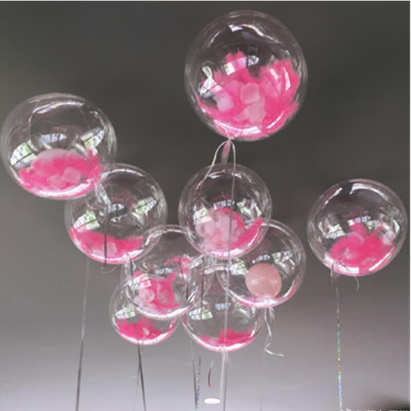 Confetti transparent plain balloons
