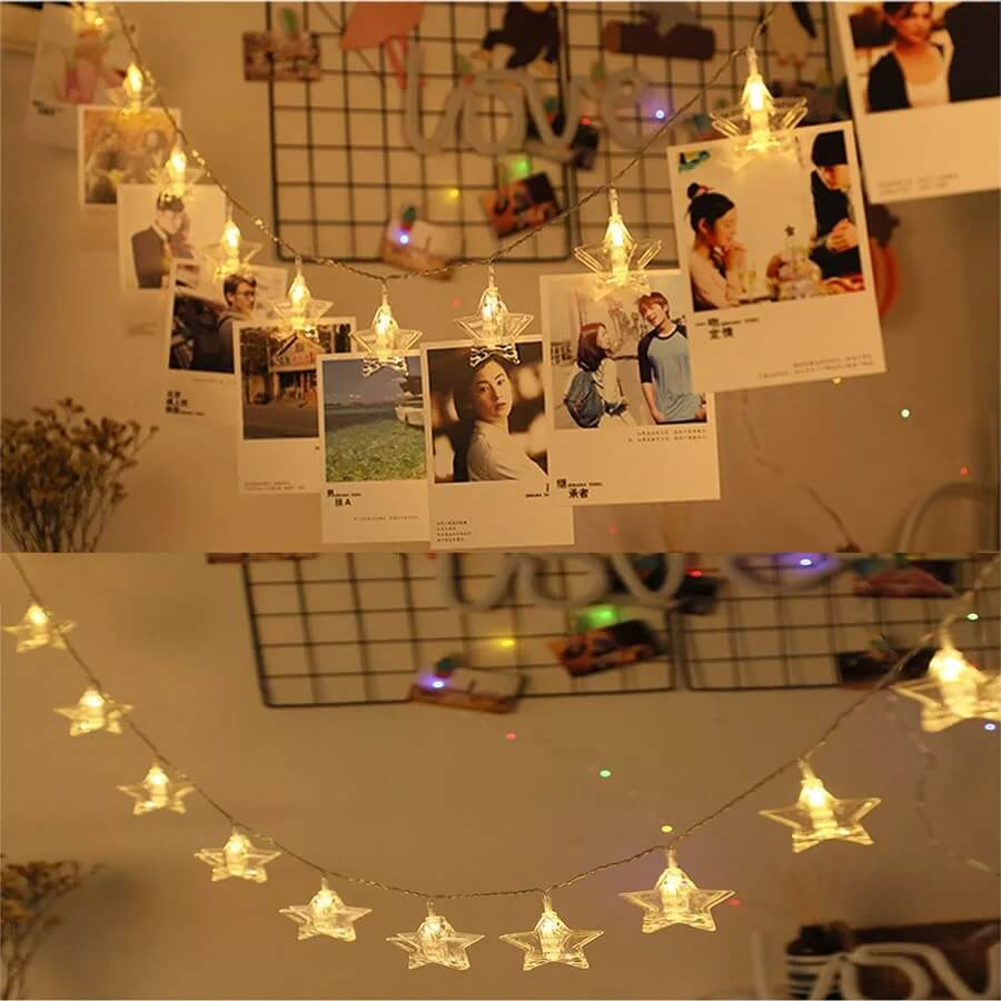 10 and 20 photo clip Led string lights