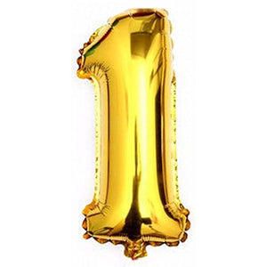 big golden letters number foil balllon