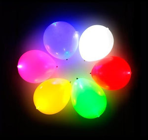 "Led latex balloon 12"" inches 5pc set"