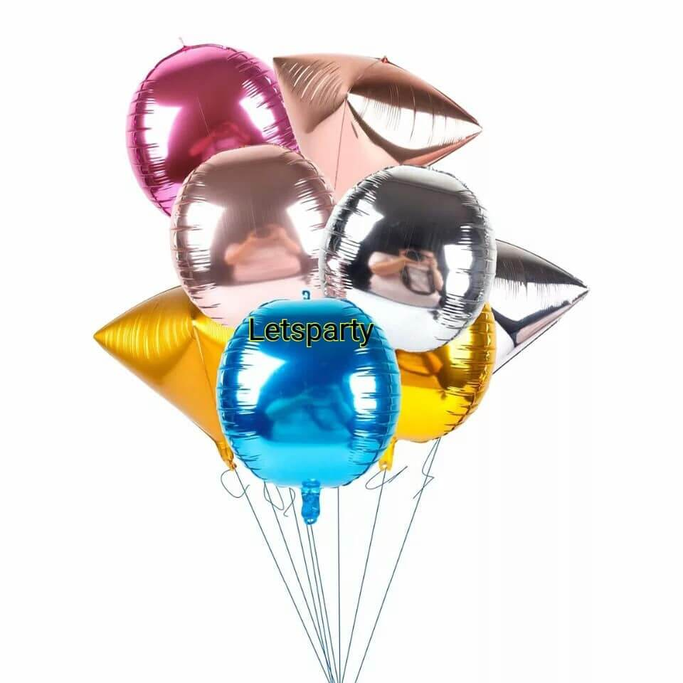 triangle circle box oval shape foil balloon