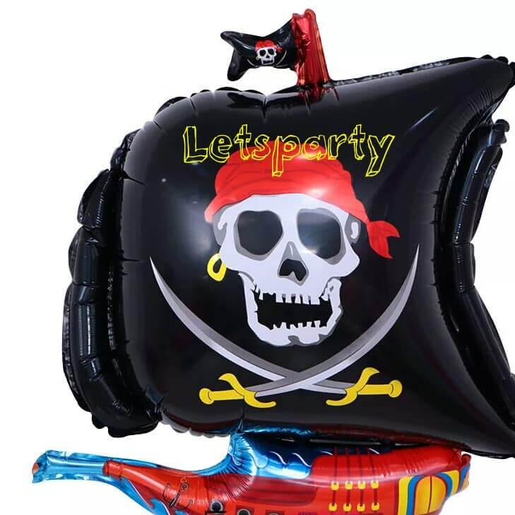 Pirate / Halloween Decorative Foil Balloons