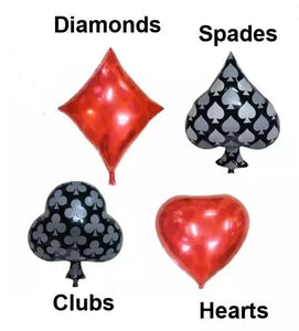 CASINO THEME FOIL BALLOONS SET OF 4