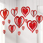 Heart hanging hard paper decoration