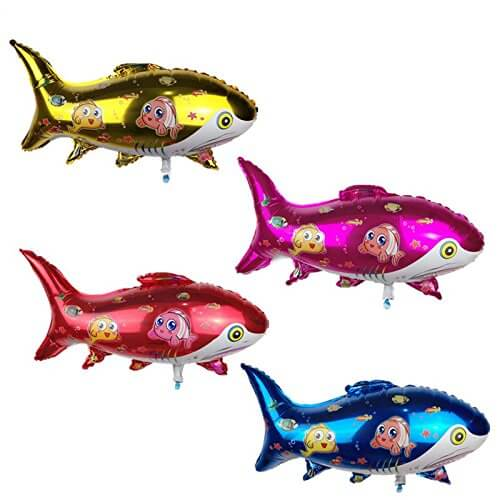 Shark fish /mermaid/ocean theme foil balloons