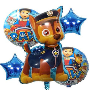 5 pc pet Paw Patrol foil balloon