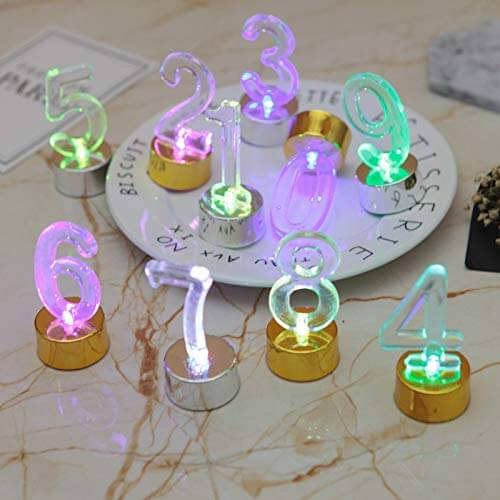 Led flameless Age number party candles