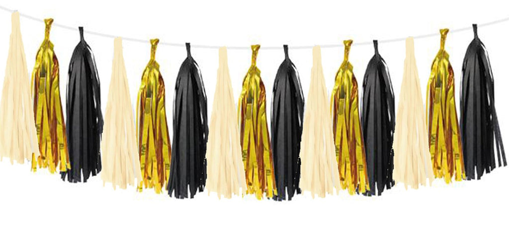 Paper tassel garland hanging for party